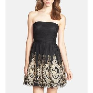 🌟FINAL SALE🌟 Aidan Mattox Tulle Fit &Flare Dress